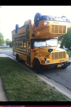 bus op de kop